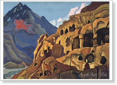Roerich Nicholas. Power of the Caves. Fine Art Print B2