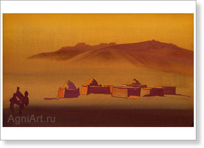 Roerich Nicholas. Karakirghizes. Art print on canvas