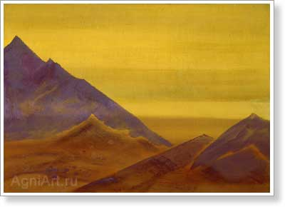 Roerich Nicholas. Dawn. (Unfinished). Art print on canvas