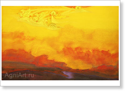 Roerich Nicholas. Elijah the Prophet. Art print on canvas
