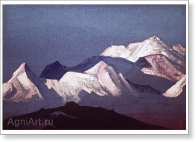 Roerich Nicholas. Himalayas. Study. Art print on canvas