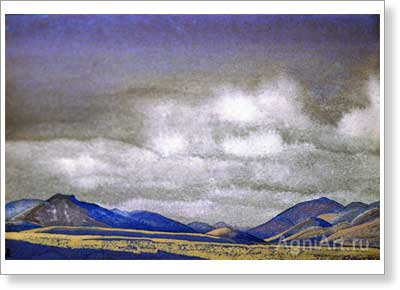Roerich Nicholas. Mongolia. Hills of Chahar. Art print on canvas