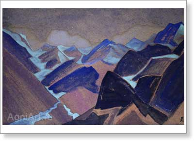 Roerich Nicholas. Glaciers of Lahul. Art print on canvas