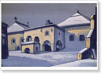 Roerich Nicholas. Ancient Pskov. Art print on canvas