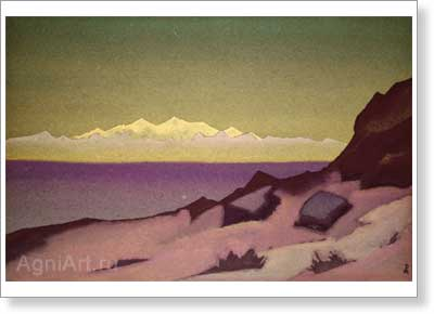Roerich Nicholas. Frontier of Tibet. Tsaidam. Art print on canvas