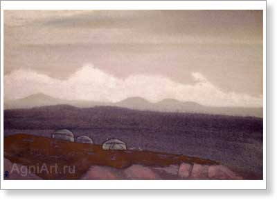 Roerich Nicholas. Mongolia. Sunit. Art print on canvas