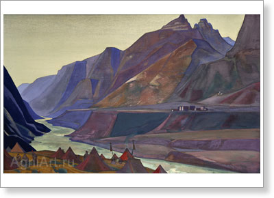 Roerich Nicholas. Koksar Camp. Art print on canvas