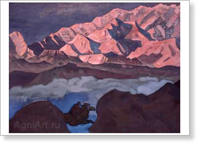 Roerich Nicholas. He Who Hastens. Art print on canvas