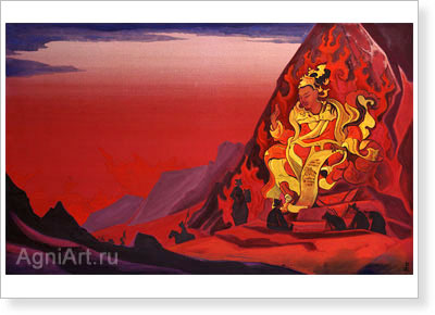 Roerich Nicholas. Command of Rigden Djapo. Art print on canvas