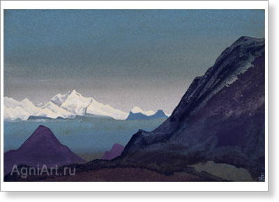 Roerich Nicholas. Kanchenjunga. Art print on canvas