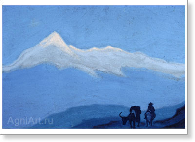 Roerich Nicholas. Solitary Traveler. Art print on canvas