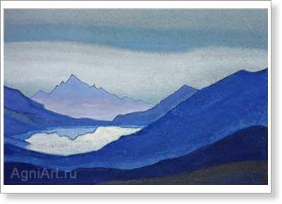 Roerich Nicholas. Mountain Lake. Art print on canvas