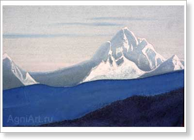 Roerich Nicholas. Himalayas. Art print on canvas