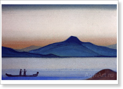 Roerich Nicholas. Boris and Gleb. Art print on canvas