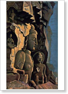Roerich Nicholas. Yuen Kang. Art print on canvas