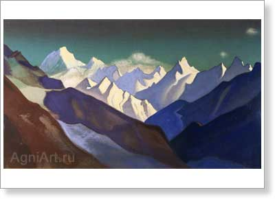 Roerich Nicholas. Mountainous Landscape. Art print on canvas