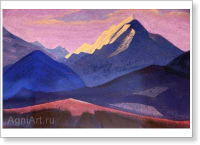 Roerich Nicholas. Study of Himalayas. Art print on canvas