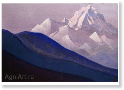 Roerich Nicholas. Study of the Himalayas. Art print on canvas