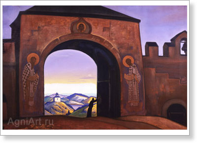 Roerich Nicholas. Terra Slavonica (And We Open the Gates). Art print on canvas
