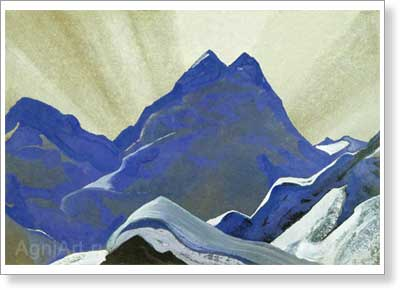 Roerich Nicholas. Himalayan Landscape. Art print on canvas