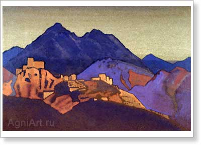 Roerich Nicholas. Monastery. Art print on canvas