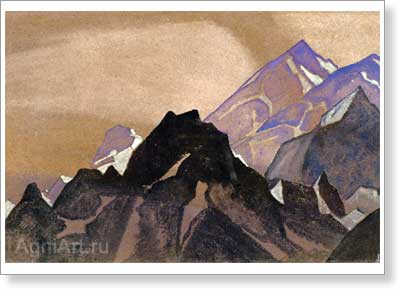 Roerich Nicholas. Beauty of Himalayas. Art print on canvas