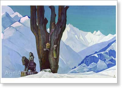 Roerich Nicholas. Narsingh and Guga Chouhan. Art print on canvas