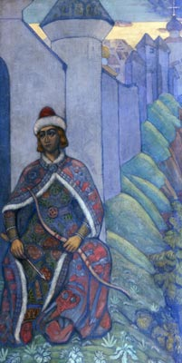 Roerich Nicholas. Knight. Costume design. Art print on canvas