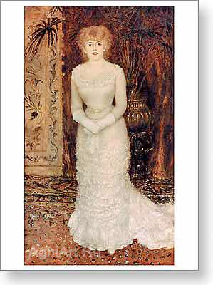 Renoir Pierre. Portrait of the Actress Jeanne Samary. Fine art print A2