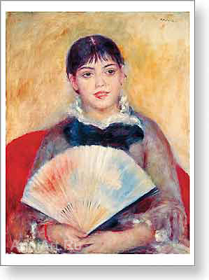 Renoir Pierre. Girl with a Fan. Fine art print A2