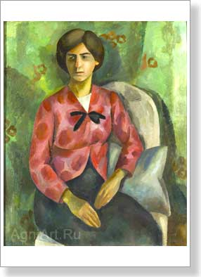 Falk Robert. Portrait of the wife of the artist. Art print on canvas