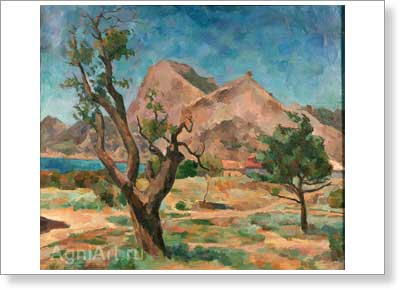 Falk Robert. Writhen Tree. Art print on canvas