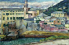 Mashkov Ilya. View of the city of Nervi. Art print on canvas