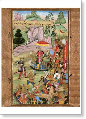 Humayun Mirza, Babur's Son, Setting out on an Expedition Against Hamid Khan. Event of 932 (1525–1526). Art print on canvas