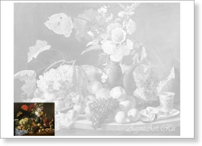 Learn to Paint Sets. Study aids B3  (40х50 sm). FomaToropov. Still Life with Flowers and Fruit