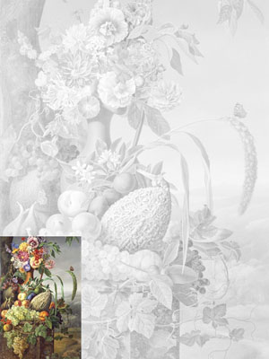 Learn to Paint Sets. Study aids A3 (30х40 sm). Volcker Frederik Wilhelm. Flowers and Fruit