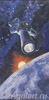 Leonov Alexey. VOSKHOD 2 IN ORBIT. Fine art postcard A6