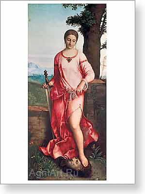 Giorgione. Judith. Art print on canvas
