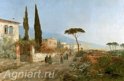 Bay of Naples. Art print on canvas
