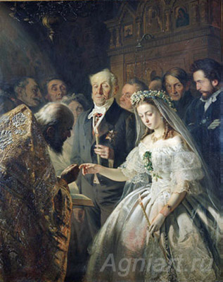 Pukirev V. Unequal marriage. Art print on canvas