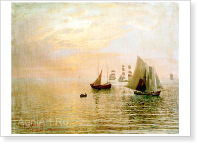 Dubovskoy Nikolay. Seascape (With Sails). Fine art print A3