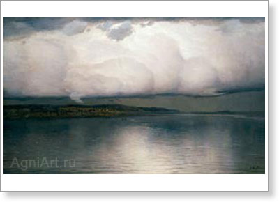Dubovskoy Nikolay. Silence Has Settled. Fine art postcard A6