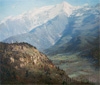 Dubovskoy Nikolay. Alps. Art print on canvas