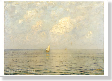 Dubovskoy Nikolay. Calm. It is cloudy. Art print on canvas