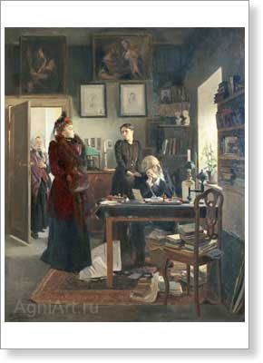 Makovsky Vladimir. Two Sisters (Two Daughters). Art print on canvas