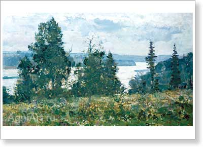 Fyodorov Vyacheslav. Morning on the Volga. Art print on canvas