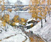 Fyodorov Vyacheslav. Early Snow - Plios. Fine art postcard A6