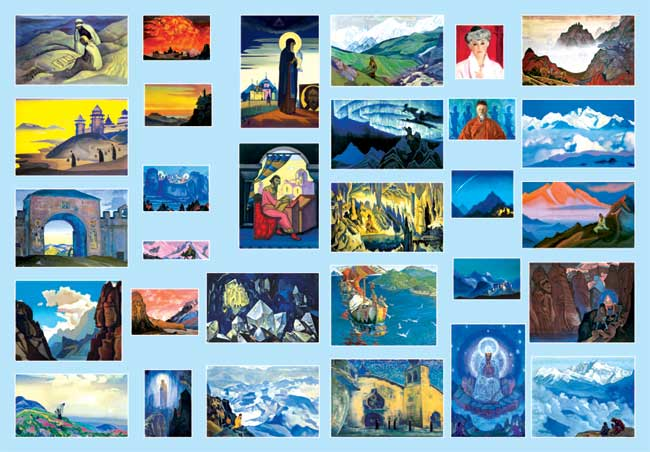 Art exhibition. Painting of Nicholas Roerich