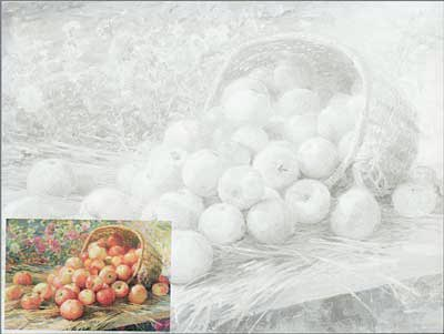 Learn to Paint Sets. Study aids A3 (30х40 sm). Fedot Sychkov. Almaty Apples