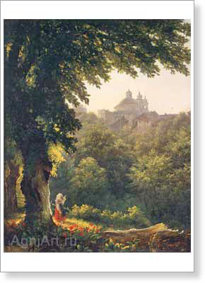 The Tretyakov Gallery. Lebedev M. Arichcha near Rome. Art print on canvas